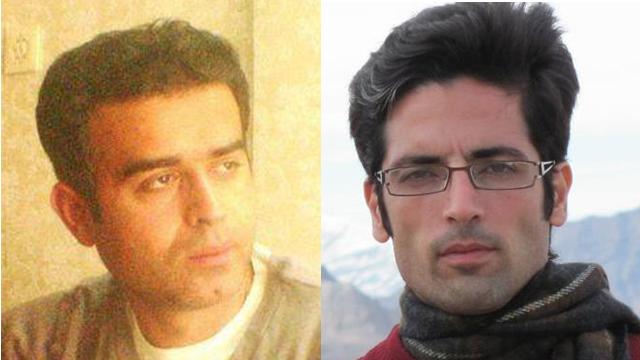 Political prisoners Majid Asadi (right) and Jafar Eghdami.