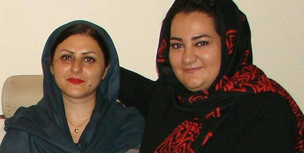 Golrokh Ebrahimi Iraee(left) and Atena Daemi
