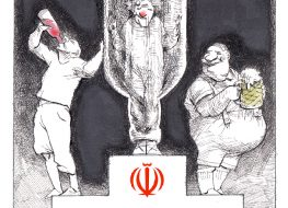 Cartoon 147: Iranian Alcoholics Beat European Alcoholics 3-1